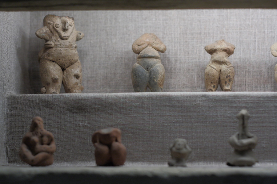 Neolithic Age Clay Figurines Volos Museum